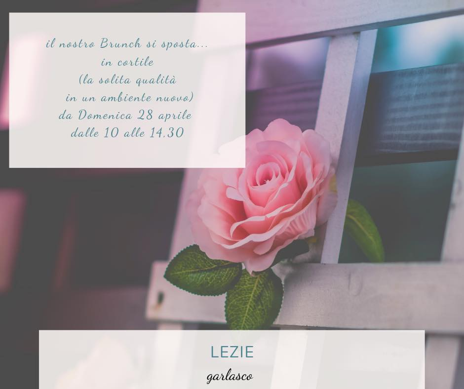 Il brunch si sposta in cortile